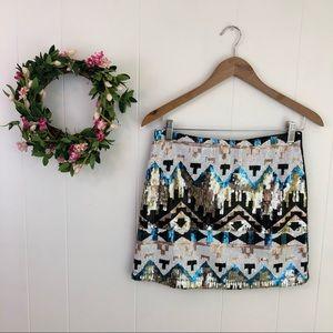 ❤️3/$25 Lulumari Silver Shiny Sequin Mini Skirt